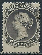 Canada #8(1) 1860 1 cent black Perf 12 QUEEN VICTORIA MH CV$20.00