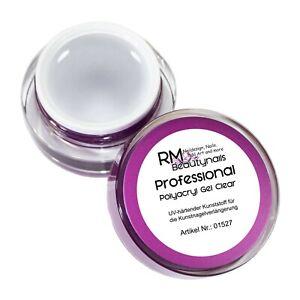 15ml Polyacryl UV Gel Acrylgel Klar Clear Aufbaugel Modellage Nagel Design Nails