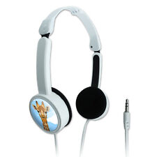 Novelty Travel Portable On-Ear Foldable Headphones Animals Going On Safari