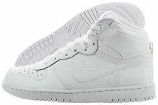 Nike Men's Big Nike High 336608 119 White Leather Casual Basketball Shoe Size 11