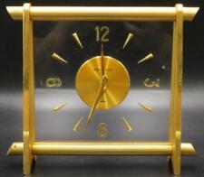 Jaeger Le Coultre Brass & Lucite Desk Clock Lot 151
