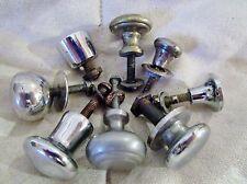 lot de 8 anciens boutons/poignées-1950-en inox chromé- pour meuble-chevet-tiroir