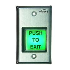 Visionis VIS-7000 Green Square Request to Exit button for Door Access Control