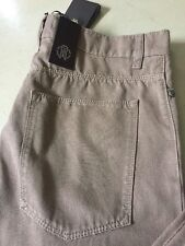 Roberto Cavalli Jeans Pants Men Brown Measured 33 ( Size 30 ) $405 NWT Italy