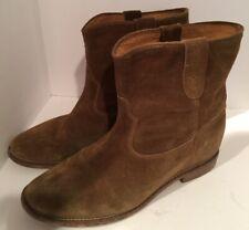 Isabel Marant 40/US 10 Light Brown Suede CRISI Hidden Wedge Boots Booties #1548