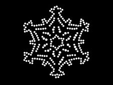 HotFix Diamante Snow Transfer iron on motif for t-shirts bags -Flake 6