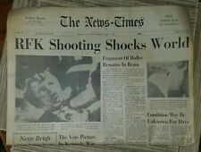 DAMBURY NEWS TIMES●JUNE 5,6 AND 8 1968●COMPLETE●3 COMPLETE PAPERS●R.F.KENNEDY