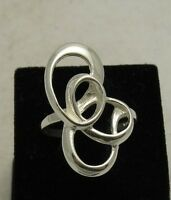 STYLISH STERLING SILVER RING SOLID 925 SIZE G - V NEW