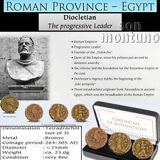 ROMAN PROVINCE Anicent Diocletian Alexandria Egypt 3 Bronze Tetradrachm Coin Set
