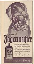 JAEGERMEISTER-vecchio annuncio pubblicitario pagina storica Insegne Pubblicità -- rutto