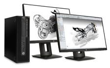 "HP PC Computer Z240 SFF Workstation i5-6500 Quad Core 22"" LCD Monitor Windows 10"