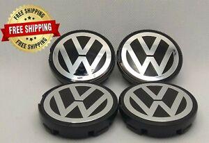 4x 6N0601171 VW Volkswagen 56mm Golf R Polo Passat Wheel Center Caps