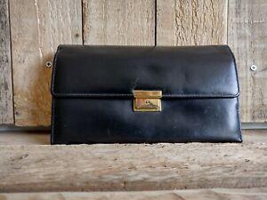 Vintage Black  Jewellery Travel Case Roll Storage Bag Red Burgundy Velvet