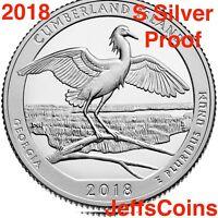 2018 S Cumberland Island National Seashore 90% Silver Proof Park Quarter US.Mint