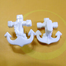 15 Anchor Design Special Shape Craft Project Sew On Buttons 16mm White G237