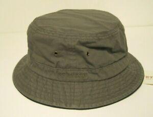 STETSON cotton BUCKET porkpie style HAT color GREY-GREEN MEDIUM