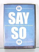 NEW!~SAY SO~DECLARING GOD'S PROMISES~CD/DVD SERIES/SET&BONUS BOOKLET~JOEL OSTEEN
