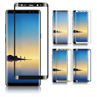 Full Cover Tempered Glass Screen Protector For Samsung Note 9 8 S10 9 Edge Plus