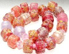 """Sistersbeads """"L-Rose Petals"""" Handmade Lampwork Beads"""