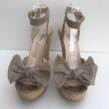 LK Bennett beige suede shoes Eur 41 Uk 8 ankle strap wedge high J80