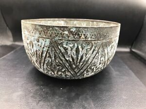 Ancient style very old Bronze brass  bowl antique antic vintage