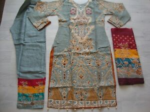 Imrozia  Linen Suit Embroidered stitched Pakistani Indian salwar kameez 2020