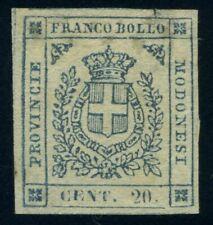 Italy Modena 1859 20 cents MNG Sas 15 CV $1500 200123014