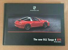 RARE 2016 PORSCHE TARGA 4 GTS Hardcover Brochure 911