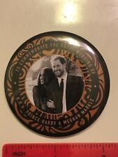 PRINCE HARRY~MEGHAN MARKLE PIN BACK BUTTONS~ ROYAL WEDDING SOUVENIR ~2.2""