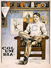 Dessin tableaux Sport Football Columbia Ligue Ivy lions Poster Print lv3113