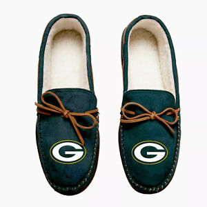 NFL Green Bay Packers Men's Colored Moccasin Hard Slippers