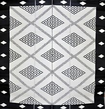 Troy Black and Cream Outdoor Mat | 270x270 CM | Camping Mat | Foldable Mat