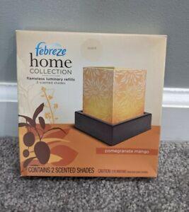 Febreze Home Collection Pomegranate Mango Flameless Luminary Refill (2) Pack NOS