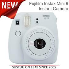 Fujifilm Instax Mini 9 Instant Camera│Selfie Mirror│Close Up Lens│Smoky White