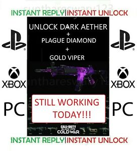 [COLD WAR Zombies] 🔥INSTANT🔥 Dark Aether + Plague diamond + Gold Viper