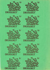 1971 STRIKE MAIL EMERGENCY POST 9/- MARGINAL - FISH GOLD ON GREEN PART SHEET 10