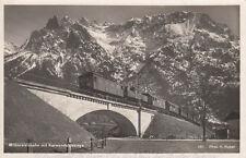 AK GEL. MITTENWALDBAHN MIT KARWENDELGEBIRGE FOTO H. HUBER 1937 (G2443)