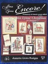 Cross Stitch Pattern Alma Lynne Christmas 49 Designs Ornaments Santa Angel OOP
