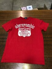 ABECROMBIE & FITCH - BRAND NEW RED SHORT-SLEEVE T-SHIRT - SIZE TEEN MEDIUM