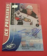 SHEA THEODORE 244/499 AUTOGRAPHED 2016 UPPDER DECK ICE HOCKEY ICE PREMIERES CARD