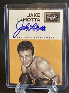 2014 Panini Golden Age Historic Signatures Jake LaMotta #JLA Auto
