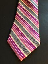 "Mens Express Neck Tie Slim Skinny 100% Silk Pink Light White Gray Narrow 2.75"""