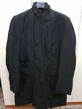 Giaccone uomo invernale di colore nero usato con bottoni e multitasche taglia 56