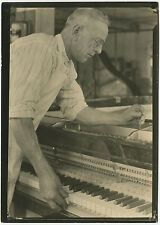 Lewis HINE: Piano Tuner, c. 1920 / VINTAGE silver / STAMPED / LH047