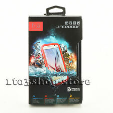 LifeProof fre Waterproof Dust Proof Hard Shell Case fo Samsung Galaxy S6 Red NEW