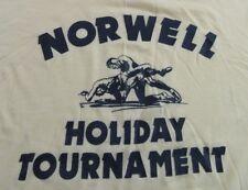 Vintage 80's Norwell Amateur Wrestling Holiday Tournament T Shirt Size M