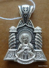 silver 925'  Pendant Virgin of Humility consecrated  the relics  st George