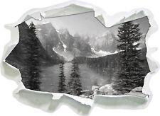 Morrena Lake Canadiense Montañas Arte Carbón Efecto - Aspecto 3d Papel Pared A