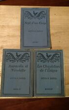 3 French Reading Books 1936 Edited by Otto F. Bond # 1,2 &3
