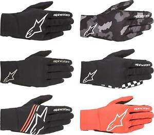 Alpinestars Reef Gloves - Motorcycle Street Bike Riding Textile Touch Screen Men